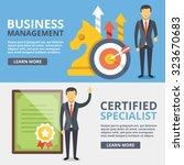 business management  certified... | Shutterstock .eps vector #323670683