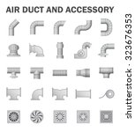 Vector Icon Of Air Duct Pipe...