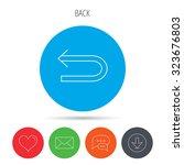 back arrow icon. previous sign. ...