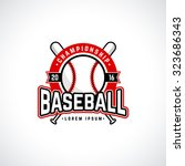 baseball championship logo with ... | Shutterstock .eps vector #323686343
