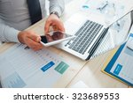 professional businessman... | Shutterstock . vector #323689553