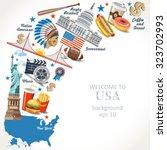 travel banners background... | Shutterstock .eps vector #323702993