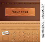 set of stitches elements.  | Shutterstock .eps vector #323705387