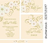 wedding invitation  thank you... | Shutterstock .eps vector #323715197