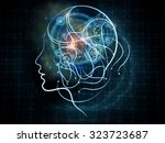 human tangents series. abstract ... | Shutterstock . vector #323723687