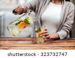healthy drink for healthy life. ... | Shutterstock . vector #323732747