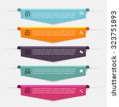 vector colorful info graphics... | Shutterstock .eps vector #323751893