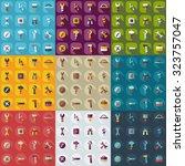 flat concept  set modern design ...   Shutterstock .eps vector #323757047