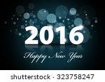 image of happy new year words... | Shutterstock . vector #323758247