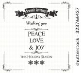 Season's Greeting Note Card...