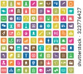 training 100 icons universal... | Shutterstock . vector #323776427