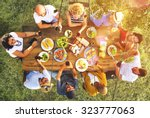 friends friendship outdoor... | Shutterstock . vector #323777063