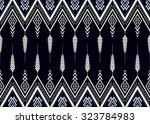geometric ethnic pattern... | Shutterstock .eps vector #323784983