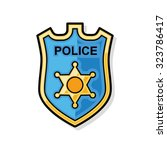 police badge doodle | Shutterstock .eps vector #323786417