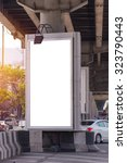 large blank billboard on road... | Shutterstock . vector #323790443