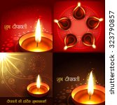 vector set of beautiful diwali... | Shutterstock .eps vector #323790857