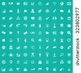 business strategy 100 icons... | Shutterstock . vector #323802977