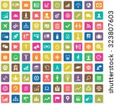 business strategy 100 icons... | Shutterstock . vector #323807603