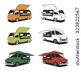 set of retro food truck... | Shutterstock .eps vector #323822567