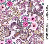 seamless paisley pattern in... | Shutterstock .eps vector #323825357
