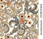 seamless paisley pattern in...   Shutterstock .eps vector #323825363