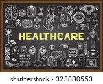 doodles about healthcare on... | Shutterstock .eps vector #323830553
