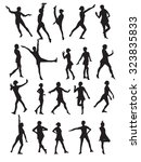 silhouette of a dancing woman... | Shutterstock .eps vector #323835833