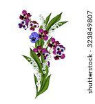 Pansy Flowers Isolated On Whit...