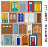 big set city generator. house... | Shutterstock .eps vector #323854223
