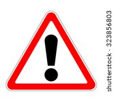 russia warning sign | Shutterstock .eps vector #323856803