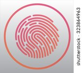 fingerprint | Shutterstock .eps vector #323864963