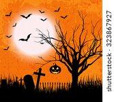 grunge style halloween... | Shutterstock .eps vector #323867927