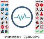 pulse monitoring vector icon.... | Shutterstock .eps vector #323873093