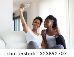 african american teenage girls... | Shutterstock . vector #323892707