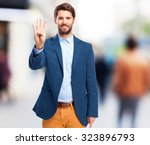 happy businessman number four | Shutterstock . vector #323896793