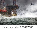 a helicopter rescue mission... | Shutterstock . vector #323897003