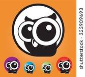 vector set of owl icons... | Shutterstock .eps vector #323909693