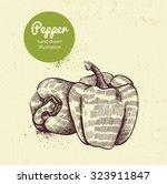 pepper vector illustration | Shutterstock .eps vector #323911847