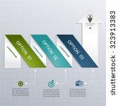 modern arrow  infographic... | Shutterstock .eps vector #323913383