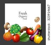 fresh vegetables and banner... | Shutterstock .eps vector #323914667
