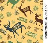 merry christmas. christmas deer.... | Shutterstock .eps vector #323915777
