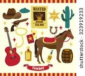 cowboy vector design... | Shutterstock .eps vector #323919233
