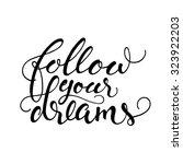 isolated calligraphic hand... | Shutterstock .eps vector #323922203
