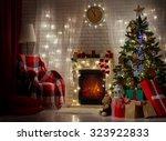 a beautiful living room... | Shutterstock . vector #323922833