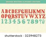 Grunge Western Alphabet Vectors