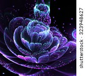 dark fractal flower with pollen ... | Shutterstock . vector #323948627