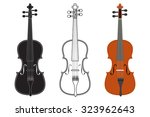violin. vector isolated on... | Shutterstock .eps vector #323962643