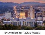 Salt Lake City Skyline Utah At...