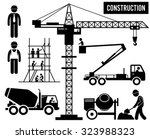 construction scaffolding tower... | Shutterstock .eps vector #323988323
