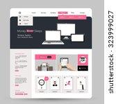 website design in flat style.... | Shutterstock .eps vector #323999027